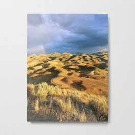 An intense rainbow in the painted hills Metal Print