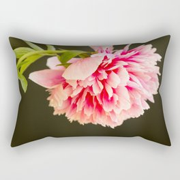 Beautiful colorful peony in vase close side view Rectangular Pillow