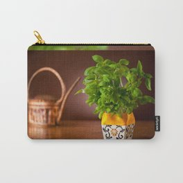 Ocimum basil plant in decorative flowerpot Carry-All Pouch