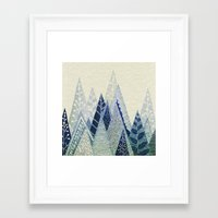 snow Framed Art Prints featuring Snow Top by rskinner1122