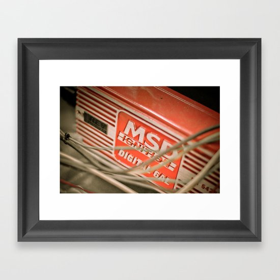 Under the Hood 3 Framed Art Print