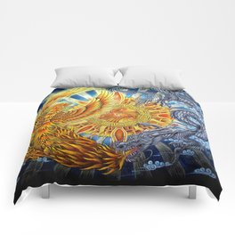 Chinese Phoenix and Dragon Mandala Comforters