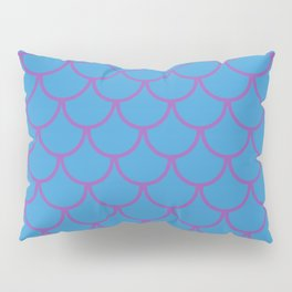 Blue & Purple Fish Scales Pattern Pillow Sham