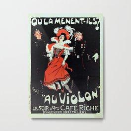 To jail Paris nightlife 1897 Metal Print