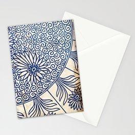 Blue Oriental Vintage Tile 01 Stationery Cards