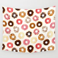 baking Wall Tapestries featuring Donuts For Days by Tangerine-Tane