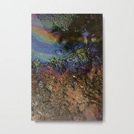 Oil on Water Metal Print