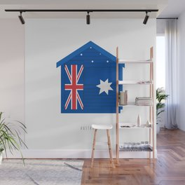 Brighton Beach Bathing Box, Melbourne, Australia Wall Mural
