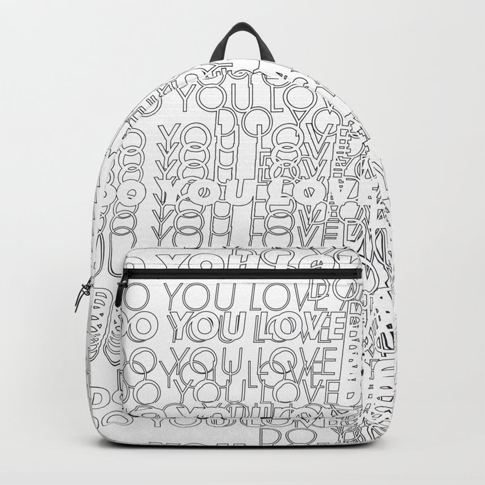 Silent Question Do You Love Me Backpack by alexvdesign