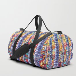 Autumn Aspen Trees Contemporary Painting Duffle Bag