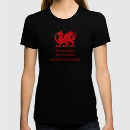 I'm not perfect, but I'm Welsh and that's close enough T-shirt