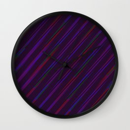 Streaking Through the Violets Wall Clock