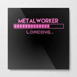 Metal Worker Loading Metal Print