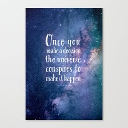 The universe conspires Canvas Print