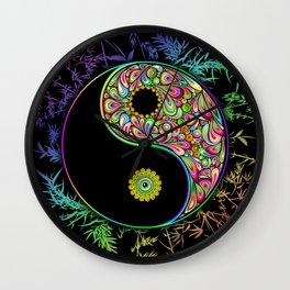Yin Yang Bamboo Psychedelic Wall Clock