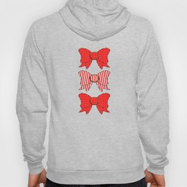 Candy Cane Bows  Hoody