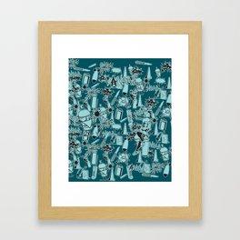 TEAL VANDAL CLASSICS Framed Art Print