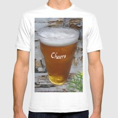 Cheers MEDIUM Mens Fitted Tee White