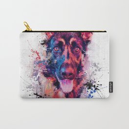Drippy Jazzy German Shepherd Colorful Dog Art by Jai Johnson Carry-All Pouch