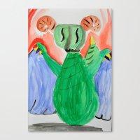 nan lawson Canvas Prints featuring Elizabeth Lawson by NLC Art Club
