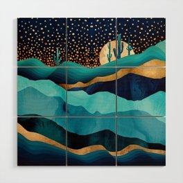 Indigo Desert Night Wood Wall Art