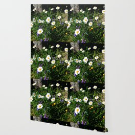 Wildflowers by the River Wallpaper