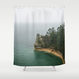 The Coast of Pictured Rocks National Lakeshore Shower Curtain