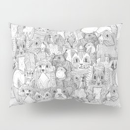 crazy cross stitch critters Pillow Sham
