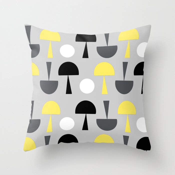 Magic Mushroms Throw Pillow
