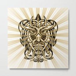 Vicious Tribal Mask 008 Metal Print