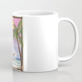 Aloha! Hawaii vintage travel poster. Coffee Mug