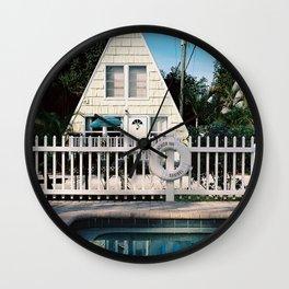 Floridian log cabin Wall Clock
