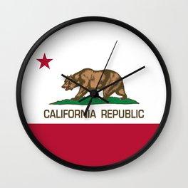 California Republic Flag - Bear Flag Wall Clock