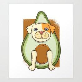 Avocado American Pit Bull Terrier Puppy Dog Art Print