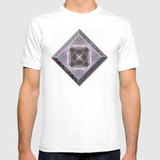 Snowy Rose Brier  White SMALL Mens Fitted Tee