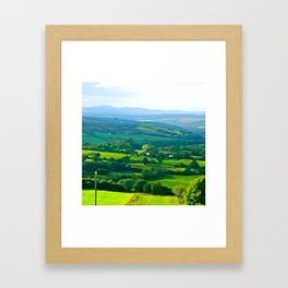 Fifty Shades of Green Framed Art Print