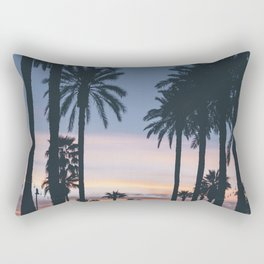 SUNRISE - SUNSET - PALM - TREES - NATURE - PHOTOGRAPHY Rectangular Pillow
