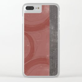 Rose Circles Grey Dots Clear iPhone Case