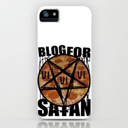BLOG FOR SATAN iPhone Case
