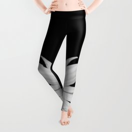 Half Daisy in Black and White Leggings