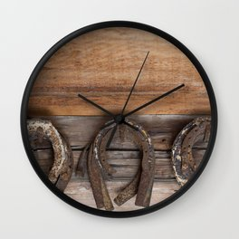 Horse Shoes: Luck on the Wall Wall Clock