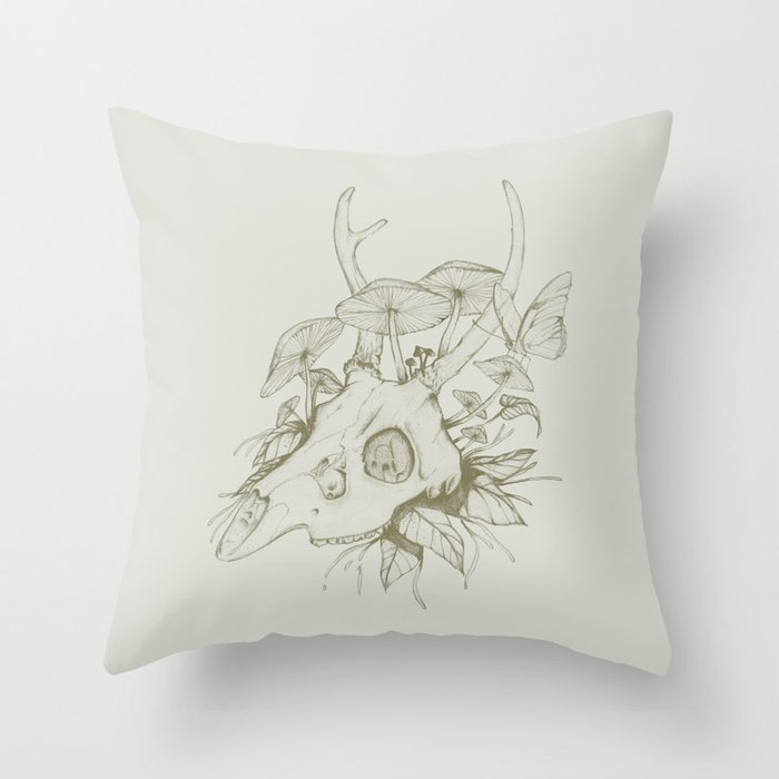 Dead Spring Throw Pillow