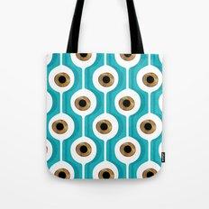 Eye Pod Turquoise Tote Bag
