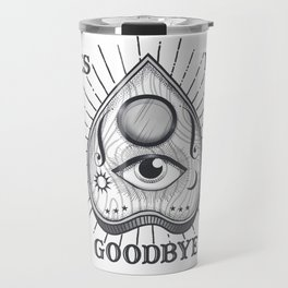Yes No Goodbye Magic Ouija Vintage Planchette Design Travel Mug