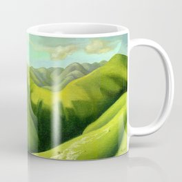 Mustering at the End of the Farm Coffee Mug