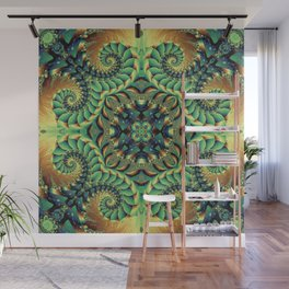 Green Tentacles Wall Mural