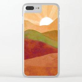 Autumn Landscape 3 Clear iPhone Case