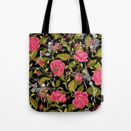 Death of Summer (black and rose) Tote Bag
