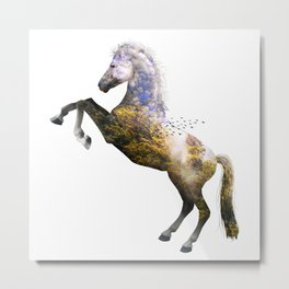 Forest Horse Metal Print