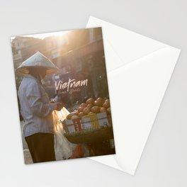 Vietnam street market Stationery Cards
